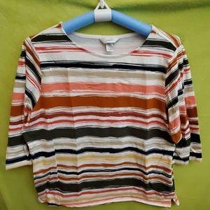 Cjbanks 3/4sleeved striped tshirt